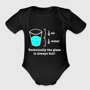 Geeky Technically Glass Full Design - Short Sleeve Baby Bodysuit