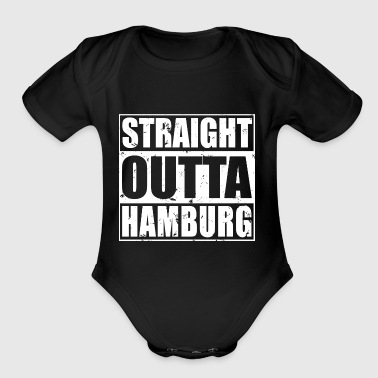 Shop Straight Outta Hamburg Design - Short Sleeve Baby Bodysuit