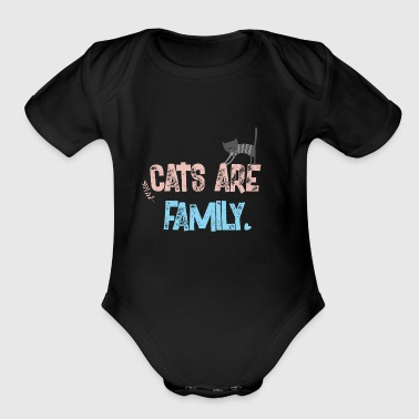 cats are family - Short Sleeve Baby Bodysuit