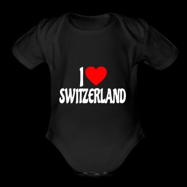 I love Switzerland shirt - Short Sleeve Baby Bodysuit