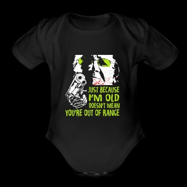 Out of Range Gun Lover T-shirt - Short Sleeve Baby Bodysuit