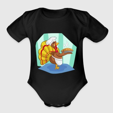 turkey - Short Sleeve Baby Bodysuit