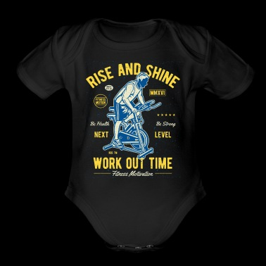Work Out Time Exclusive Tshirt Limited Edition - Short Sleeve Baby Bodysuit