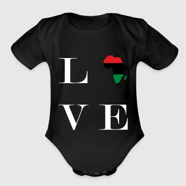 Love - W ver. - Organic Short Sleeve Baby Bodysuit