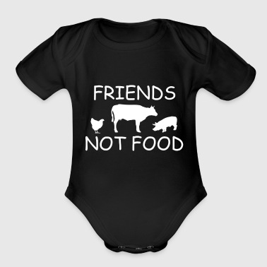 FRIENDS2.png - Organic Short Sleeve Baby Bodysuit