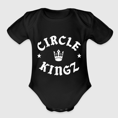 circle kingz - Short Sleeve Baby Bodysuit
