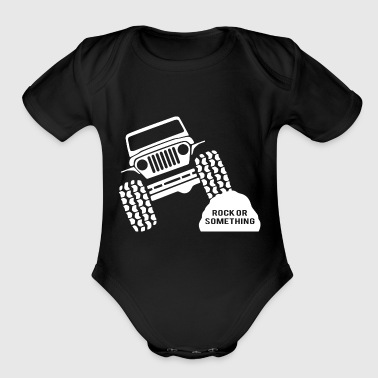 Rock Or Something Jeep Wrangler - Organic Short Sleeve Baby Bodysuit