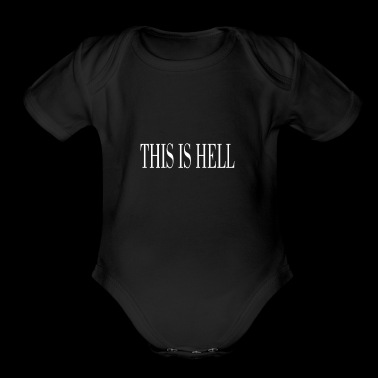 THIS IS HELL white - Short Sleeve Baby Bodysuit