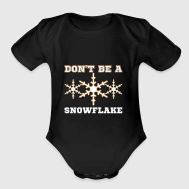 Snowflake Trump 2020 supporters t-shirt gift - Short Sleeve Baby Bodysuit