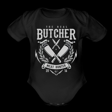 The Real Butcher Exclusive Tshirt Limited Edition - Short Sleeve Baby Bodysuit
