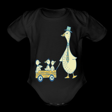 Daddy Duck T Shirt - Organic Short Sleeve Baby Bodysuit