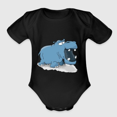Hippo Nil Horse Africa Animal Zoo Gift Present - Short Sleeve Baby Bodysuit