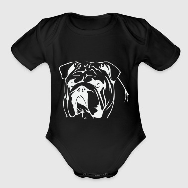 Bull Dog - Short Sleeve Baby Bodysuit
