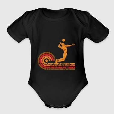 Retro Style Volleyball Player Vintage - Short Sleeve Baby Bodysuit