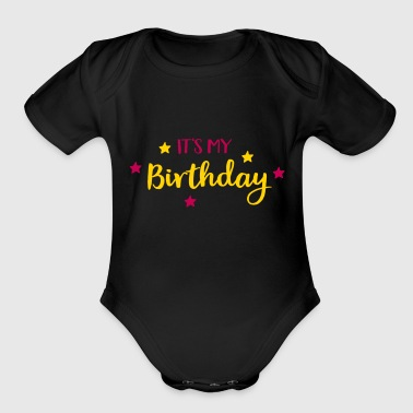 2541614 128216635 birthday - Short Sleeve Baby Bodysuit