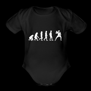 The Evolution Of American Football Player - Short Sleeve Baby Bodysuit