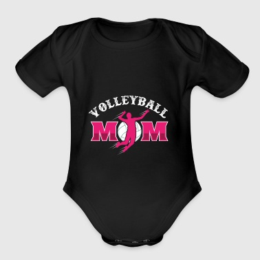 Volleyball Mom - Short Sleeve Baby Bodysuit