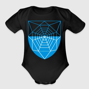 spider web - Short Sleeve Baby Bodysuit
