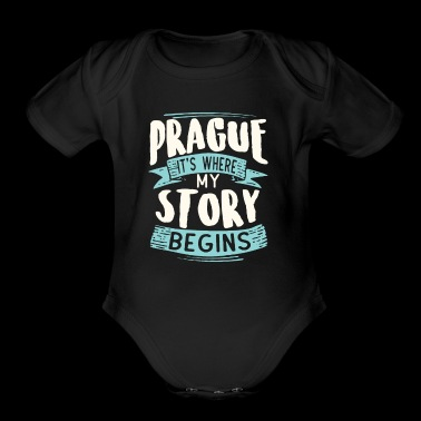 Prag it´s where my story begins - Short Sleeve Baby Bodysuit