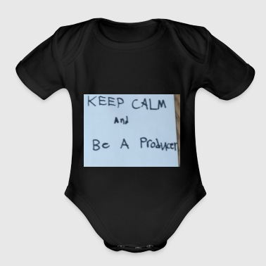 Keep Calm and be A Producer - Short Sleeve Baby Bodysuit
