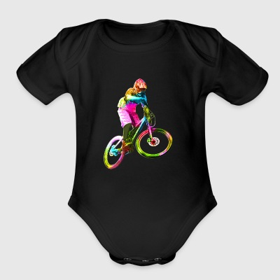 Colorful Downhiller - Short Sleeve Baby Bodysuit