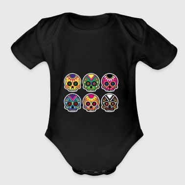 Skulls - Short Sleeve Baby Bodysuit