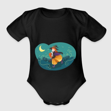 witch - Short Sleeve Baby Bodysuit