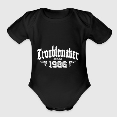 TROUBLEMAKER SINCE 1986 - Short Sleeve Baby Bodysuit