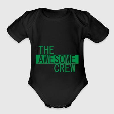 the awesome crew green - Short Sleeve Baby Bodysuit