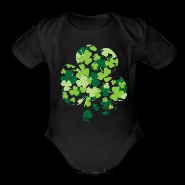 shamrock - Short Sleeve Baby Bodysuit