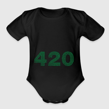 420 Marijuana - Short Sleeve Baby Bodysuit