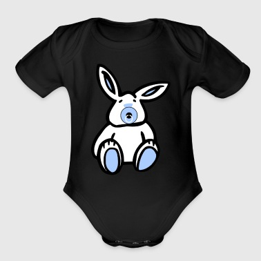Easter Blue Baby Bunny - Organic Short Sleeve Baby Bodysuit