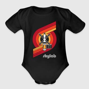 Skylab - America's Space Station (Large print) - Organic Short Sleeve Baby Bodysuit