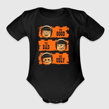 GOOD COP BAD COP UGLY COP - Short Sleeve Baby Bodysuit