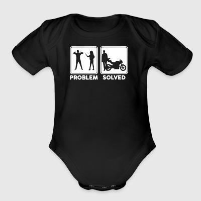 Problem Solve Biker - Short Sleeve Baby Bodysuit