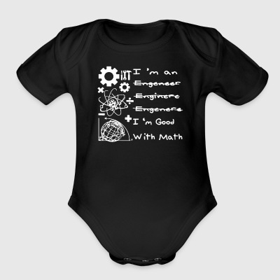 Science I'm Good With Math Shirt - Short Sleeve Baby Bodysuit