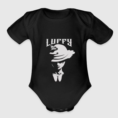 luffy of one piece - Short Sleeve Baby Bodysuit