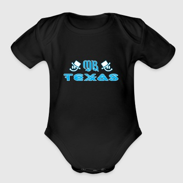 Mr Texas - Short Sleeve Baby Bodysuit