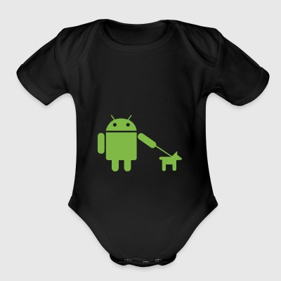 Android Dog - Short Sleeve Baby Bodysuit
