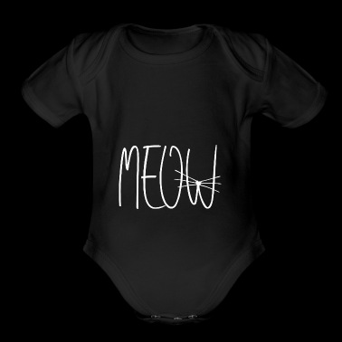 meow Cat & Cats Design - Organic Short Sleeve Baby Bodysuit