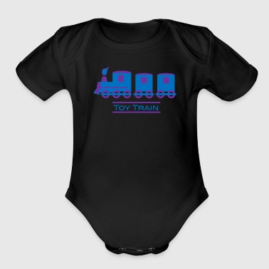 Train - Organic Short Sleeve Baby Bodysuit