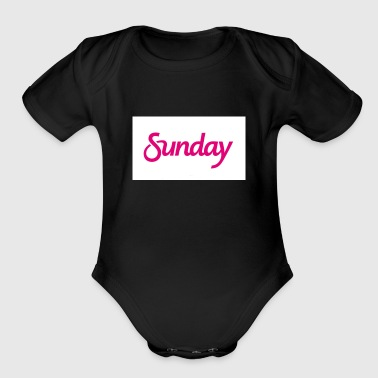 Sunday logo - Short Sleeve Baby Bodysuit