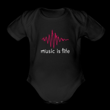 music is life - music is my life heartbeat - Short Sleeve Baby Bodysuit