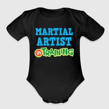 Martial Artist In Training - Organic Short Sleeve Baby Bodysuit