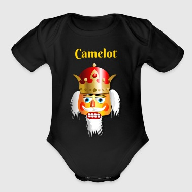 Xmas Nutcracker King - Organic Short Sleeve Baby Bodysuit