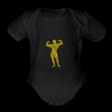 Golden Bodybuilding - Short Sleeve Baby Bodysuit