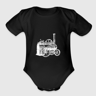 STEAM MACHINE - STEAMPUNK - Short Sleeve Baby Bodysuit