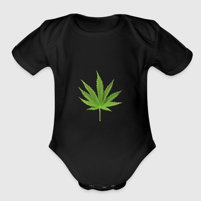 Weed low polygon effect - Short Sleeve Baby Bodysuit
