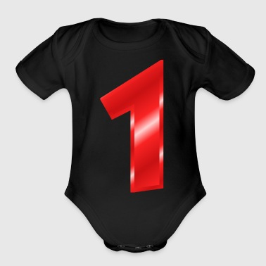 number one - Short Sleeve Baby Bodysuit