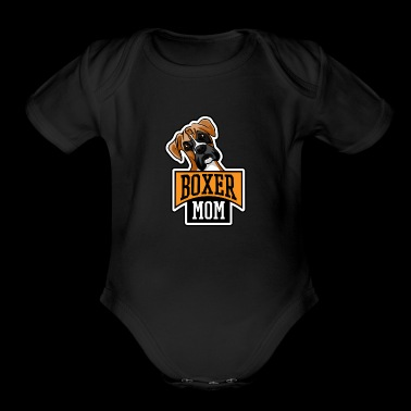 DOG DOGGIE PET ANIMAL BREED BOXER MOM GIFT IDEA - Organic Short Sleeve Baby Bodysuit